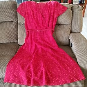 Talbots Red Ankle Length Dress Size 18